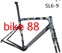 Wholesale 56cm frameset - 2018 newest model SWOK carbon bike frame arm green blue white rainbow silver full carbon bike frameset T1000 UD matt glossy carbon frameset