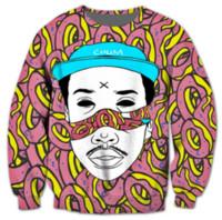 suéter futuro impar venda por atacado-Novas Mulheres Da Moda / Homens Odioso Futuro Estilo Harauku Engraçado 3d Impresso Crewneck Camisolas Hoodies K28