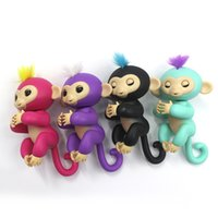 Wholesale Monkey Lovely - WowWee Lovely Fingerlings Toys Cute Finger Monkey Interactive Baby Monkey Fingers Toys Electronic Pet Smart Touch Monkey Toys For Kids Child