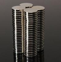neodim mıknatıslar 5 mm diskler toptan satış-100 adet / grup Sıcak satış Süper Güçlü Yuvarlak Disk Silindir 12 * 5mm Mıknatıslar Nadir Toprak Neodimyum N35 Yuvarlak Şekil N S 80 derece N35 çinko kaplama
