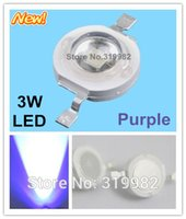 Wholesale Diode Violet - Wholesale- 50pcs lot 3W Purple led beads 700mA chip led Violet purple high power lamp diode Emitter beads ( No: GH-3W-PP )