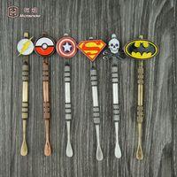 Wholesale Superhero Pens - Superhero wax oil vape pen vaporizer starter with dab tool wax Top Ball JAR Container Dabber, Shovel,Tool Wax Concentrate Tool -j01