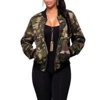 военные куртки для оптовых-Женские камуфляжные куртки Модное пальто Army Green женская куртка-бомбер Пальто Женское летнее пальто Топы Air Foce 1 Повседневное пальто
