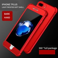 Wholesale Cell Phone Hard Cases Cheap - 5s iphone cases 360 Full TPU+Hard PC mobile phone case for 6 6s 6plus 6splus protective phone for iphone 7 7plus cheap cell phone accessorie