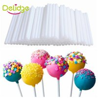 50 pz / set 15 cm Lollipop Stick Food-Grade Plastica Pop Sucker Sticks Cake Pop Sticks per Lollypop Candy Chocolate Sugar Pole