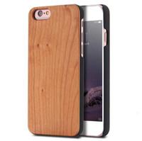 caja del teléfono de madera de bambú al por mayor-Funda de teléfono de madera de grabado personalizado de diseño de lujo para Iphone X XS MAX XR 8 7 6 6S Plus Funda de madera tallada en madera de bambú