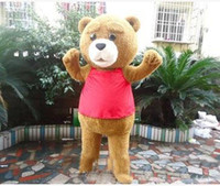 Wholesale Teddy Halloween Costume - Factory direct sale Teddy Bear Adult Mascot Costume for Valentine's L Day Thanksgiving Day Christmas Halloween Mascot Costume