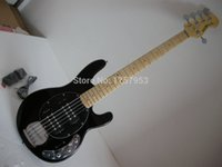 Fábrica de compras personalizadas 2015 Músico mais novo Music Man Sting Ray 5 cordas com 9V Active Pickup Black Electric Bass Guitar 7 6