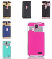 Wholesale Zte Avid - Luxury Wave Hybrid TPU PC Hard Case For ZTE Sonata 3 Z832 ZTE Prestige N9132 Avid Plus Z828   Avid Trio Z831 Chapel   Z833 Soft Armor Cover