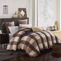 Wholesale White Down King Size Comforter - washing cotton fabric 90% white duck down warm duvet quilt comforter queen size 3.20kgs king size 3.70kgs 16014