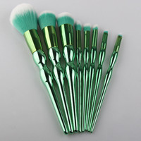 Wholesale plastic gourds for sale - Group buy New Makeup Brush Gourd Handle Face And Eyes Brushes Kit