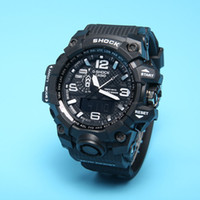 Wholesale Ladies Red Led Watch - New Original Colors Mens Casual G Sport Watches Led Waterproof Lady S Shock GA100 Watch