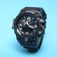 Wholesale Watch S Ladies - New Original Colors Mens Casual G Sport Watches Led Waterproof Lady S Shock GA100 Watch