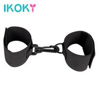 Wholesale Sexy Toys Handcuffs Adult Products - IKOKY Handcuffs Sexy SM Bondage Fixed Hand Adult Product Sex Toys for Couples Nylon Hands Cuffs Fetish Ribbon Restraint Sex Shop