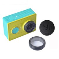 Wholesale Uv Lens Cover - Wholesale-Lens Cap Cover UV Filter For Xiaomi yi Camera Lens Cap Cover+UV Filter for Xiaomi Yi Xiaoyi yi Action Sport Camera Accessories
