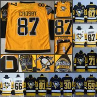 Wholesale Hot Hockey - Hot #87 Sidney Crosby Jersey 2017 Stadium Series Jersey 30 Matt Murray 58 Kris Letang 81 Phil Kessel Pittsburgh Penguins Hockey Jerseys