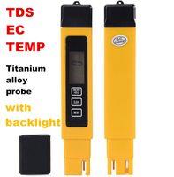 Wholesale ec meter pen for sale - 3 in Digital TDS EC temp PPM Water Quality Meter Tester Pen Titanium alloy probe for Aquarium Pool with backlight