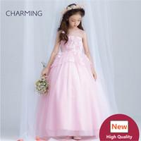 Wholesale China Beach Balls - Wedding dresses pink Girls pageant dress High quality designer dresses real photo China wedding dress beach wedding dresses