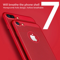 Wholesale Hard Plastic Shell Case - Fashion 5 Colors Scrub Breathable Hard PC Mobile Phone Shell Full Protective Back Cover Case for iphone 7 7 Plus