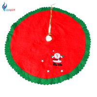 Wholesale Fabric Christmas Tree Ornament - Wholesale- 2016 Non-Woven Fabrics Christmas Tree Skirt Aprons Navidad Christmas Decoration for Home Party Xmas Tree Decor Festival Supplies