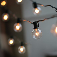 Wholesale vintage christmas bulbs resale online - 50Ft G40 Bulb Globe String Lights with Clear Bulbs Backyard Patio Lights Vintage Bulbs Decorative Outdoor Garland Wedding