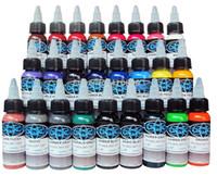 renk mürekkebi toptan satış-Fusion Dövme Mürekkep Fusion 25 Renkler Set 1 oz 30 ml / Şişe Dövme Pigment Kiti TI601-30-25 Ücretsiz Kargo Sıcak satış