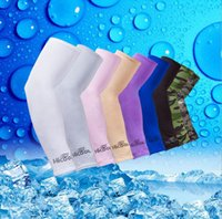 Wholesale uv arm protectors - Hicool Arm Sleeve Sun Protection UV Protector Summer Sports Cycling Cool Outdoor Arm Sleeve Arm Warmers 11 Colors OOA1874
