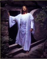 Wholesale Painting Canvas Jesus - Christ Jesus - Resurrection of Christ,Hand painted Portrait Art Oil Painting On Quality Thick Canvas,Multi sizes available Js001