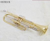 Wholesale Gold Brass Trumpet - wholesale Mall genuine musical instrument sounds Jinbao licensing JBBT-1900 bass trumpet bB tone lifetime warranty