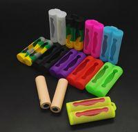 e-zigarette batterie häute groihandel-Doppel18650 Batterie-Silikon-Kasten-schützende Gummi-Abdeckungs-Haut-Schutz für 18650 E-Zigarette Mods-Batterie-bunte DHL geben frei