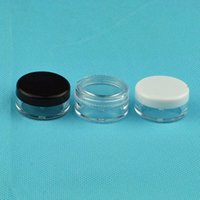3ML Clear Base vuoto contenitori di plastica contenitori Pot 3g Dimensione per cosmetici Cream Eye Shadow Nails polvere gioielli wa3901
