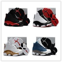 Wholesale Baby Shoe Leather Red - Best 2017 retro 13 Kids Basketball Shoes Flint Blue Bred 13 14 DMP Pack men basketball shoes sneakers 11 retro sports Baby, Kids shoes