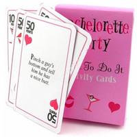 ingrosso carta da favola nuziale wedding-Divertimento Bachelorette Party Giochi Cards Dare To It It Cards Wedding Bridal Shower Decorazione del partito Regali di favore Scavenger Hun Supplies