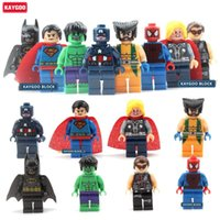 Wholesale Dc Action - Kaygoo 8pcs lot The Classic Marvel DC Super Heroes Movie Series Action Small Figures Building Block Toys New Kids Toys Gift