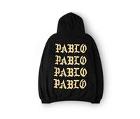 Wholesale Rap Hoodies - 2017 Pablo Paris Hoodies I feel like pablo Sweatshirts Kanye Rap Black White Hoody Pullovers Men Sweatshirts