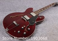 Wholesale Es Jazz Guitars - Wholesale-New arrive Custom shop 1964 ES-345 Figured VOS Jazz guitar,Wine red ES345 hollow guitar,Free shipping