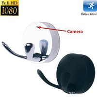 1080P Clothes Hook Spy Camera Motion Detection Registratore video Cappotto Hanger Videocamera nascosta Mini DVR Home Office Security Cam nero argento