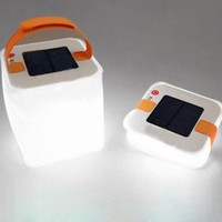 Inflatable Solar-powered LED Lamp Cubic Night Light Blanc Light Folding Waterproof IPX7 Portable Camping Randonnée en plein air Natation Vente en gros