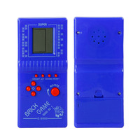 Wholesale Electronic Brick Game - Hot Sale New Tetris Game Hand Held LCD Electronic Game Toys Brick Classic Games Free Shipping WD051AA