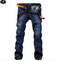 Wholesale Men Pants Style Price - Wholesale-Plus size 28-48 men's jeans good quality straight stretch jeans men hot sale low price designer mens jeans pants MJ28