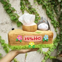 Wholesale Totoro Products - Wholesale- 1pcs Lovely Chinchillas Totoro Plush Doll Toy Tissue Boxes Extraction Household Product Totoro Gifts For Girls Free Shipping