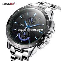 relógio longbo venda por atacado-Longbo marca 2016 novo luxo de aço inoxidável relógio de moda dos homens de negócios elegante relógio de quartzo projetado para os homens relógio de alta qualidade