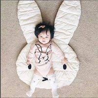 Wholesale Baby Toys Game Pad - .Soft Baby Padded Play Game Mats Rabbit Crawling Blanket Floor Carpet Kids Room Hot Children Round Rugs Creeping Mat Large 106*68CM WD060AA