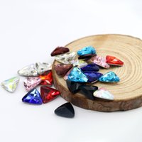 Wholesale Glasses Big Bag - 10x10mm Triangle Pointback Fancy Stone Bling Big Crystal Glass Gemstone For Diy Making 50pcs bag (10 Different Color Available)