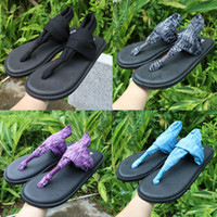 Wholesale New Arrivals Plus Size Summer Women Casual Sandals Shoes Outdoor Breathable Simple Sanuk Yoga Sling Flip Flops Girls Casual Slide Shoes