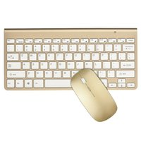 Wholesale Usb Wireless Keyboard Receiver - K108 2.4G Optical Wireless Keyboard and Mouse Combo with USB Receiver Silver   Gold Rose Gold Color Fashion Design for PC Laptop