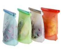 Wholesale Home Kitchen Supplies - Silicone Fresh Bags Home Food Sealing Storage bag Organization kitchen Gadgets cooking tools Accessories Supplies