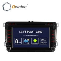 Ownice C500 Android 6.0 8 Core 2G RAM autoradio 2 Din Car Lecteur DVD pour Volkswagen POLO PASSAT Golf Skoda Seat Avec 4G Radio