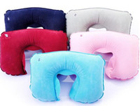 Wholesale Wholesale Bath Pillows - Bath Pillows Functional Inflatable U Shaped Pillow Car Head Neck Rest Air Cushion for Travel