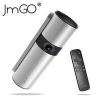 Wholesale Business Building - Wholesale- JmGO P2 lightweight portable built-in battery Bluetooth speaker 3D projector smart home HD 3D mini 1080 portable projector
